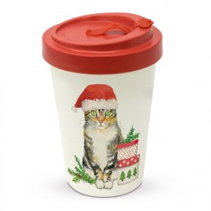Travel Mug - Christmas Kitty